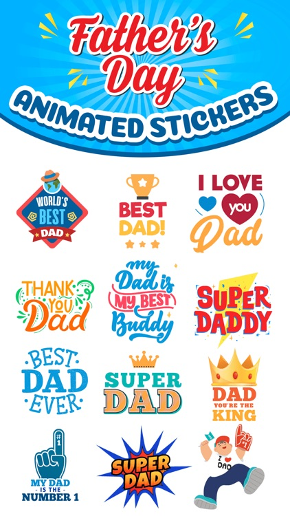 Father's Day Animated Stickers