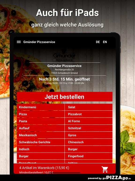 Gmünder Pizzaservice Schwäbisc screenshot 7
