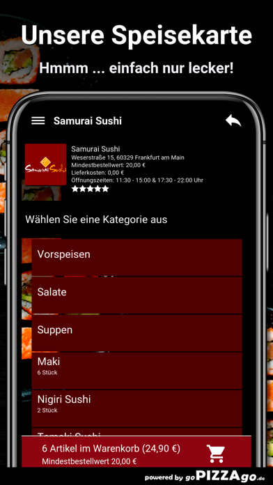 Samurai Sushi Frankfurt screenshot 4