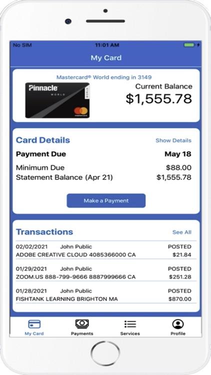 Pinnacle Bank Card