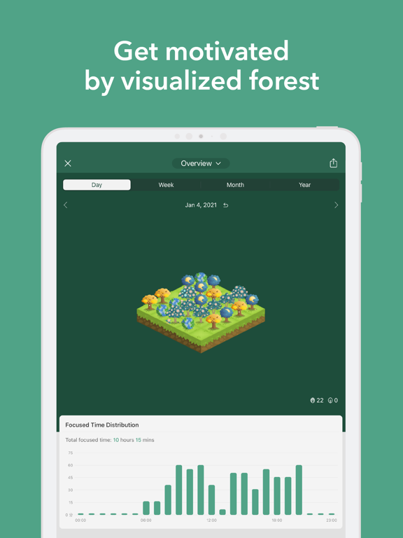 Forest - Your Focus Motivation iPad app afbeelding 4