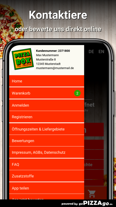 Pizza Box Büchlberg screenshot 3
