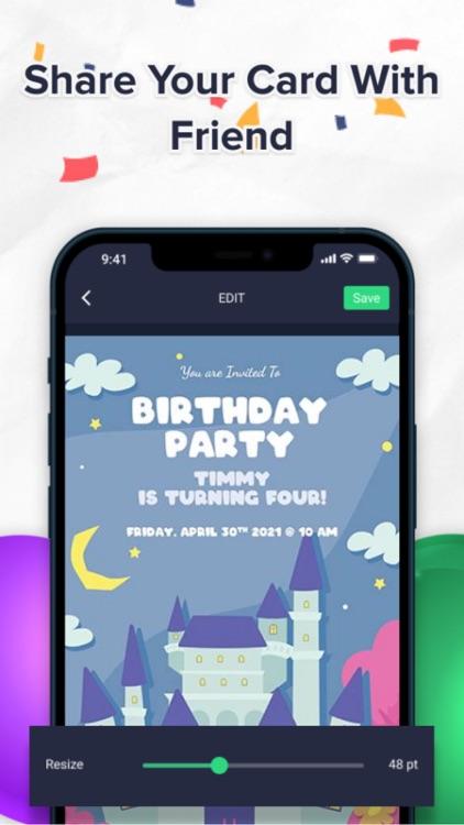 Birthday Card Maker - Editor screenshot-3