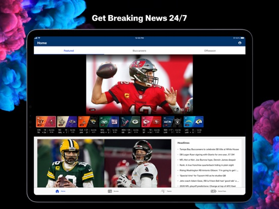 iPad Image of NFL