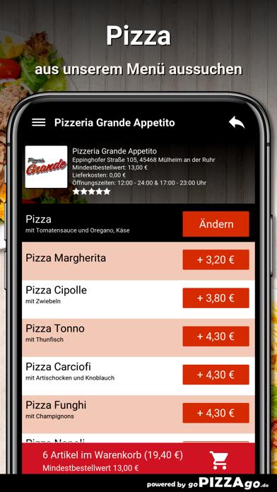 Pizzeria Grande Appetito Mülhe screenshot 5