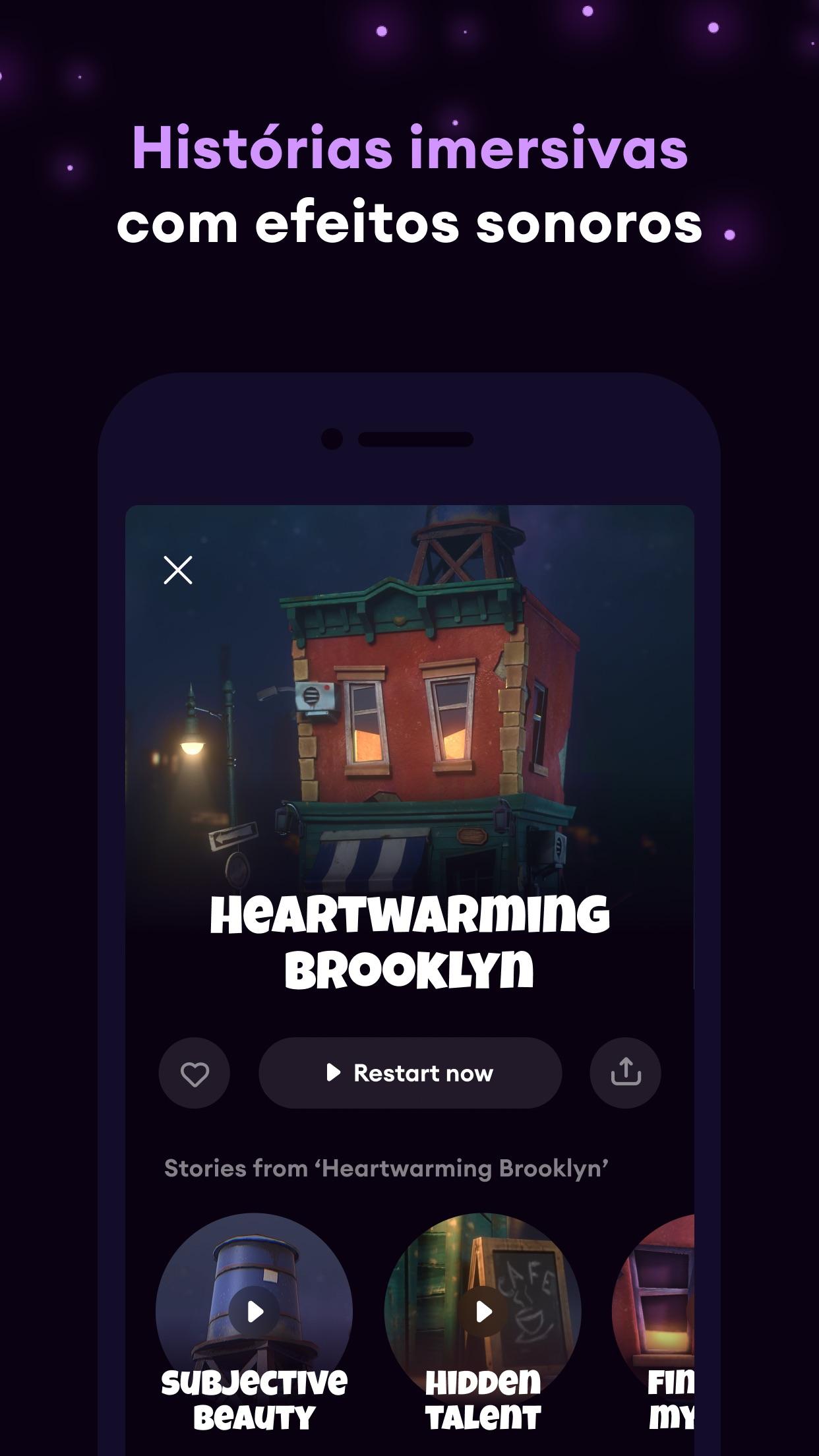 Screenshot do app Loóna: sons para dormir bem