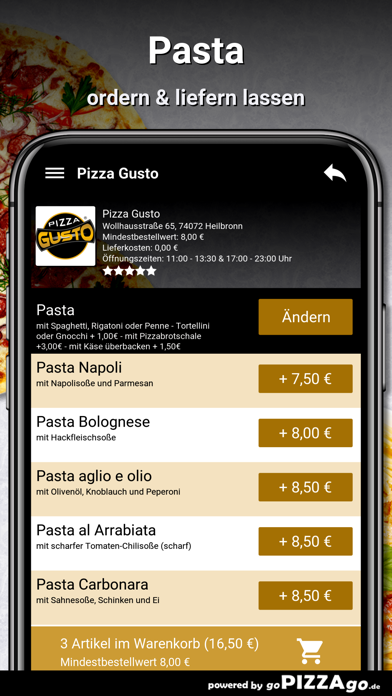 Pizza Gusto Heilbronn screenshot 6