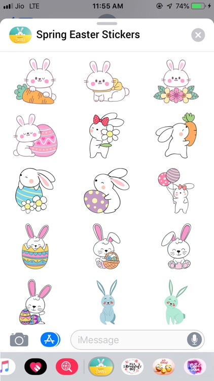 Spring Easter Stickers