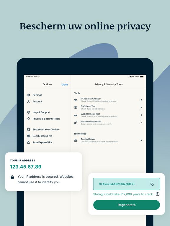 ExpressVPN: Betrouwbaarste VPN iPad app afbeelding 2