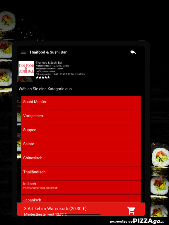 Thaifood & Sushi Bar Berlin screenshot 8