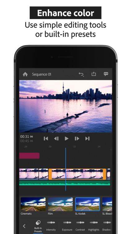 Adobe Premiere Rush:Edit Video screenshot-7