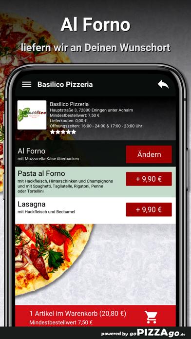 Basilico Pizzeria Eningen unte screenshot 6