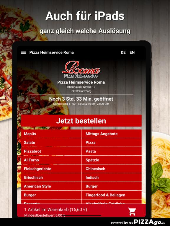 Pizza Roma Günzburg screenshot 7