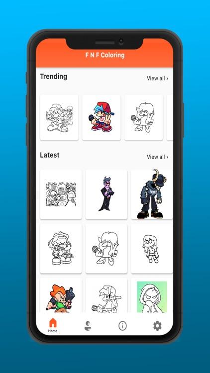 FNF music battle coloring mod screenshot-4