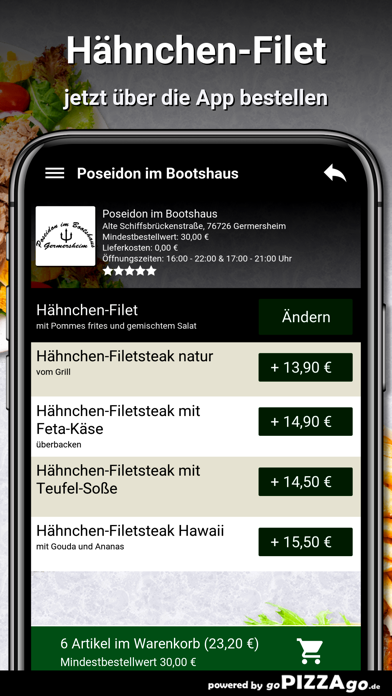 Poseidon im Bootshaus Germersh screenshot 5