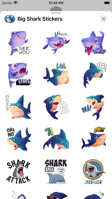 Big Shark Stickers screenshot 3