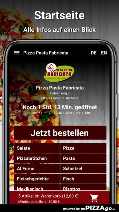 Pizza Pasta Fabricata Frankfur screenshot 2