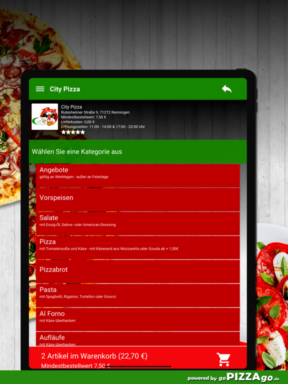 City Pizza Renningen screenshot 8
