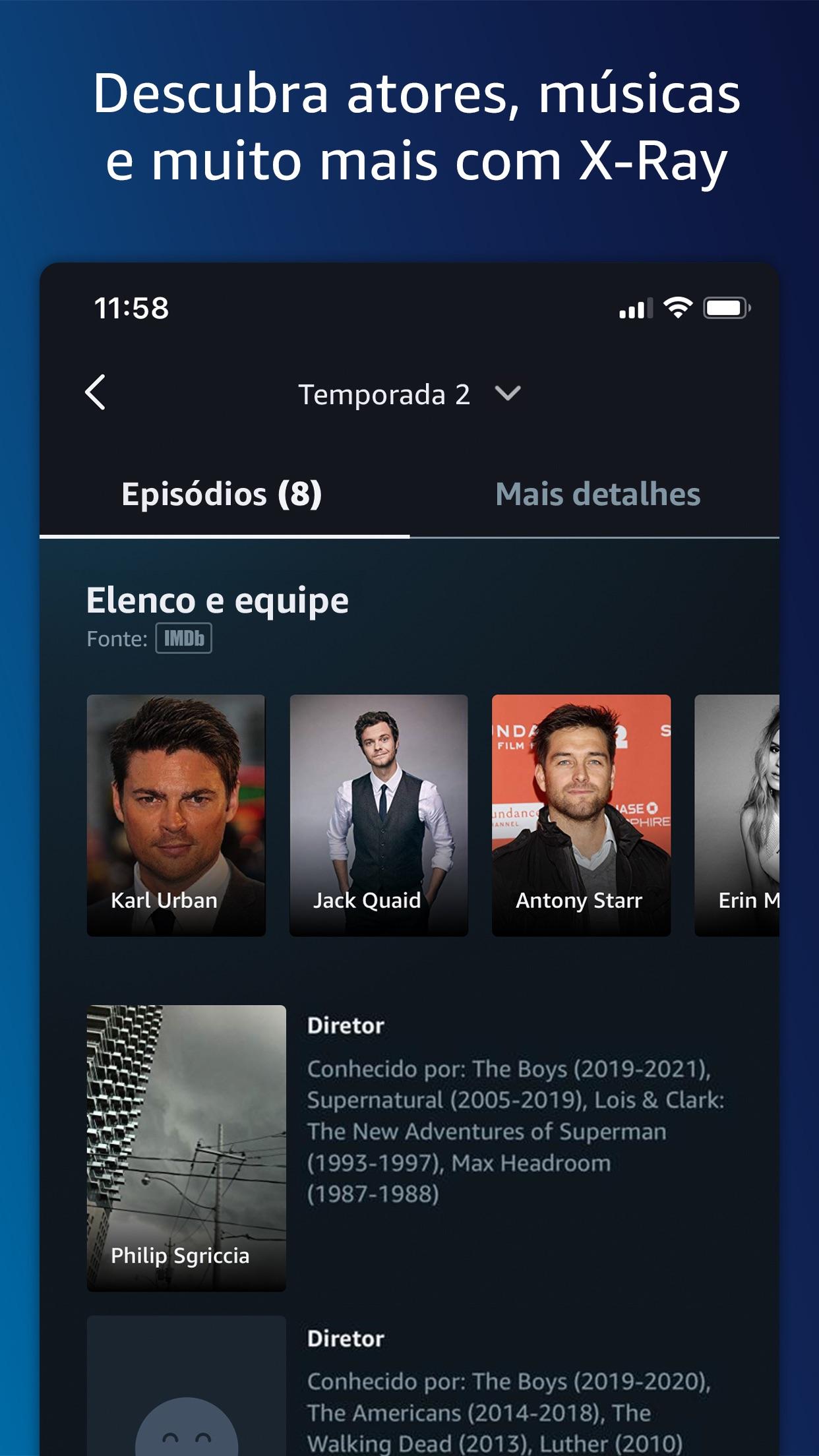 Screenshot do app Amazon Prime Video