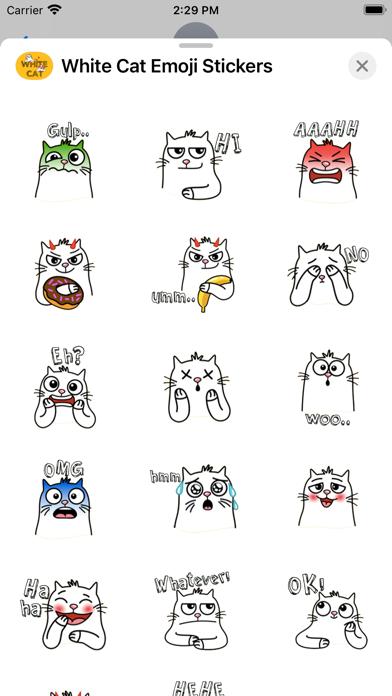 White Cat Emoji Stickers screenshot 4