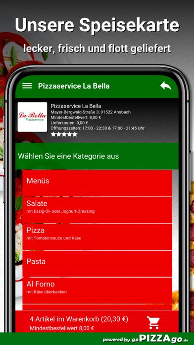 Pizzaservice La Bella Ansbach screenshot 4