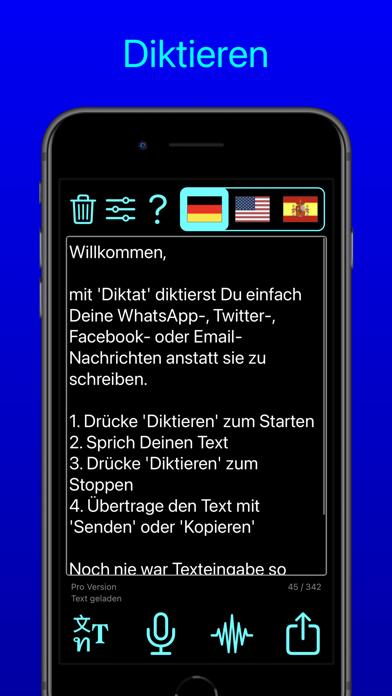 Diktat - Sprache zu TextScreenshot von 5