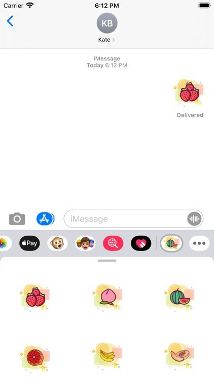 Fruit pie Stickers screenshot-3
