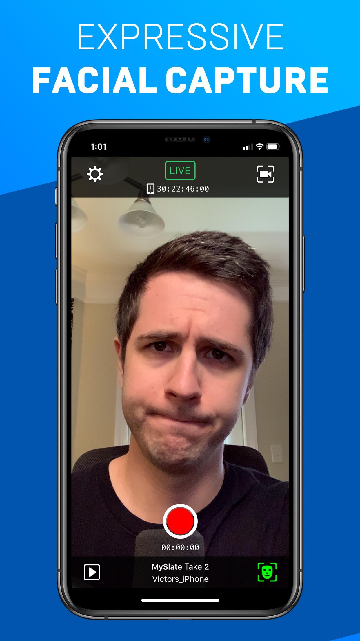 Screenshot do app Live Link Face