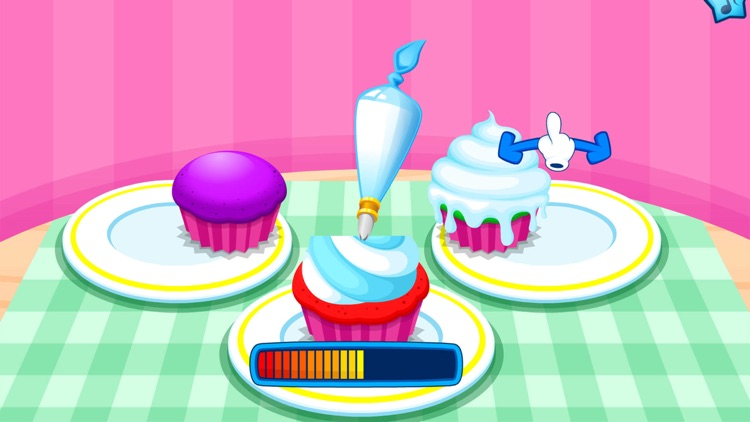 Cooking colorful cupcakes game screenshot-4