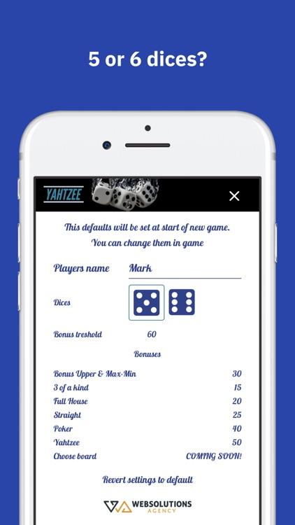 Yamb Score Card