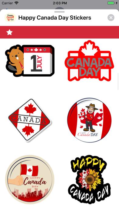 Happy Canada Day Stickers ! screenshot 2