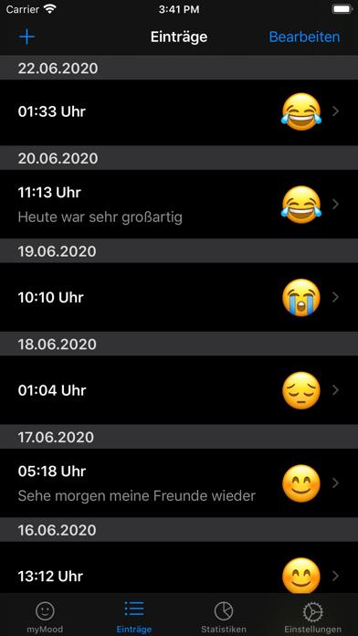 myMood: StimmungstagebuchScreenshot von 3