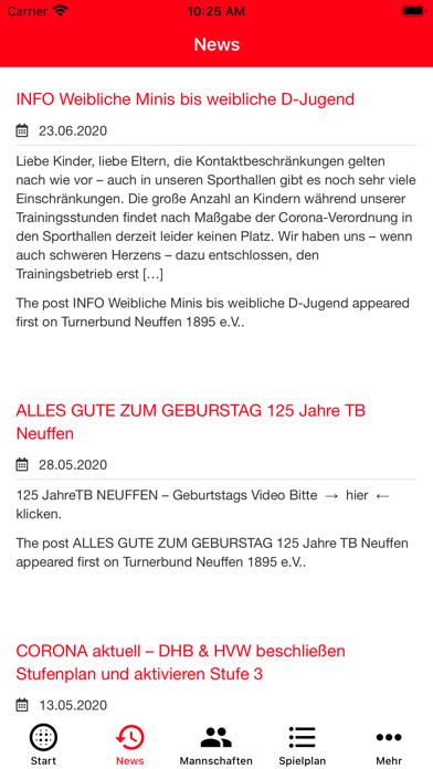 TB Neuffen - HandballScreenshot von 3