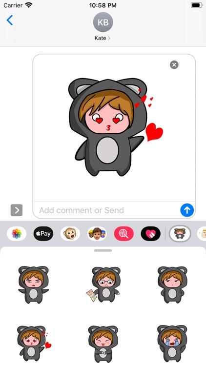 Bear baby Sticker