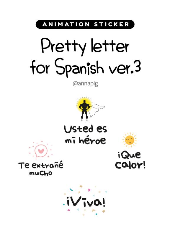 Pretty letter for Spanish ver3 screenshot 4