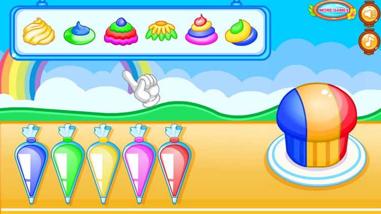 Cooking colorful cupcakes game screenshot-6