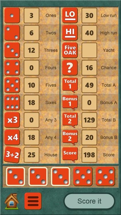 FiveOAK, yatzy dice game screenshot-6