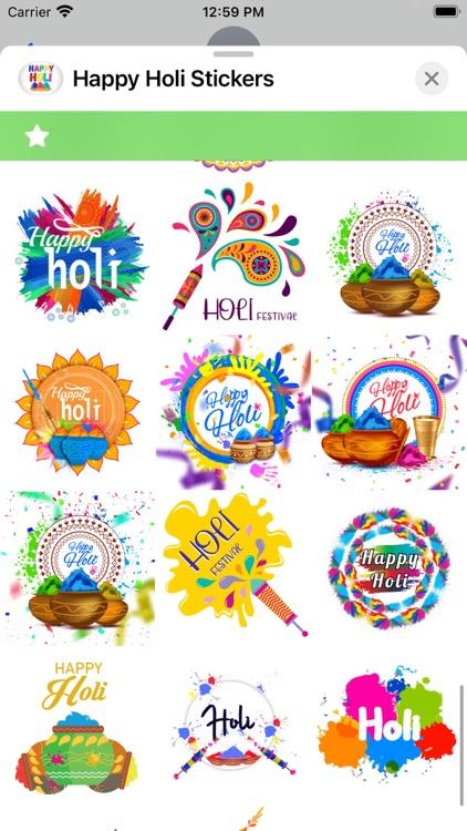 Happy Holi Stickers ! screenshot-6