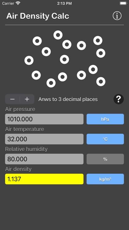 Air Density Calculator screenshot-3