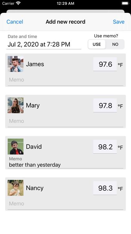 Body Temperature Note screenshot-4