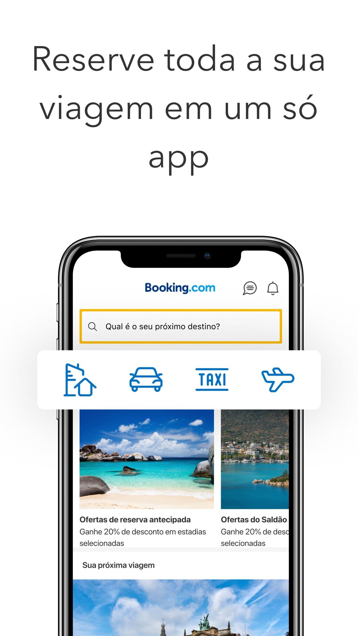 Screenshot do app Ofertas de viagem Booking.com