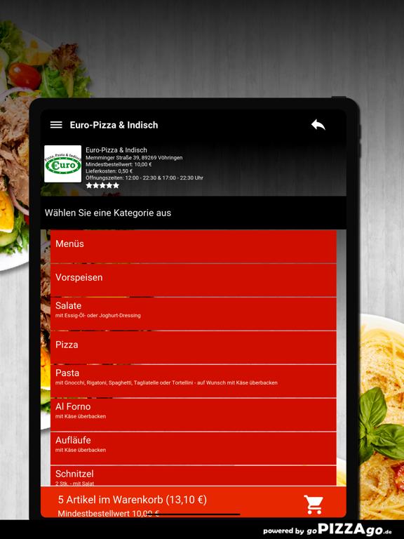 Euro-Pizza & Indisch Vöhringen screenshot 8