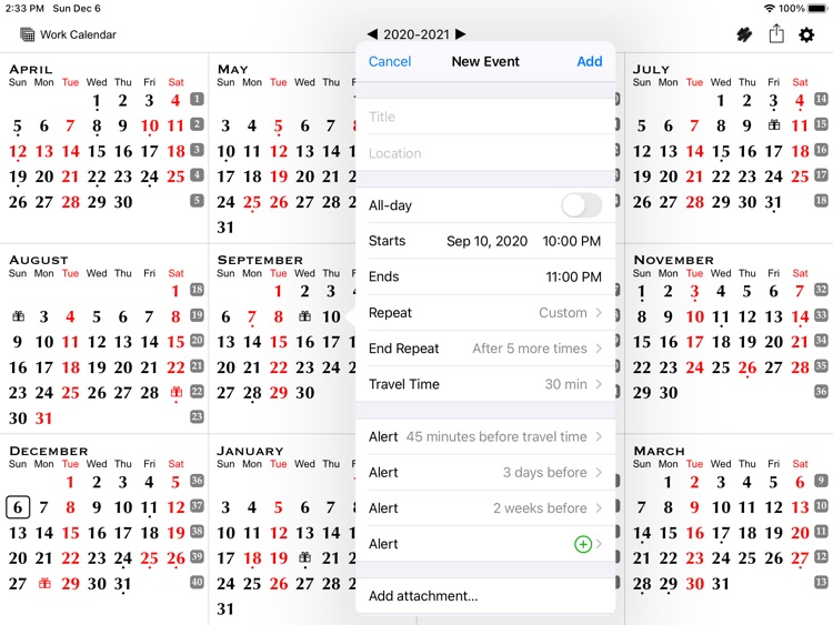 All-in-One Year Calendar Pro screenshot-3