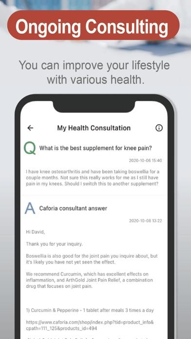 Caforia Health Consultation 1