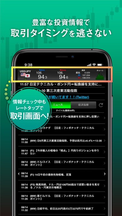 パートナーズFX マネパのFX取引・トレードアプリ ScreenShot6