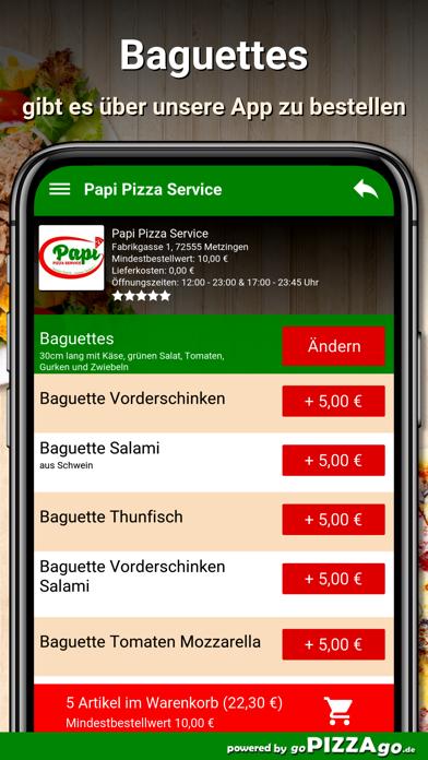 Papi Pizza Service Metzingen screenshot 6