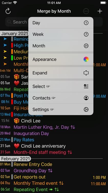 Merge Calendars and Reminders