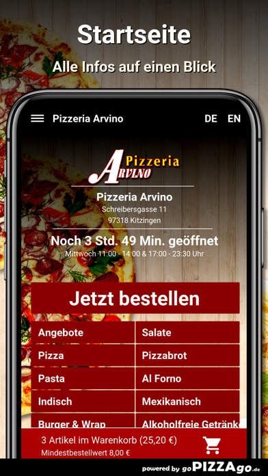 Pizzeria Arvino Kitzingen screenshot 2