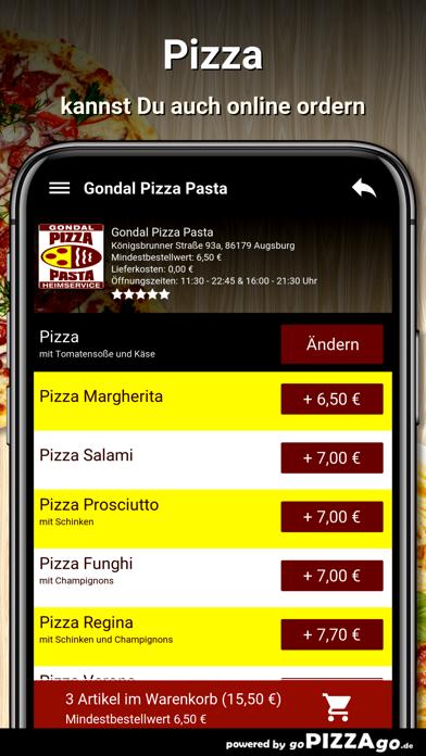 Gondal Pizza Pasta Augsburg screenshot 5