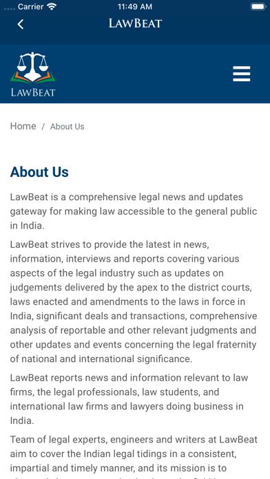 LawBeat screenshot 2